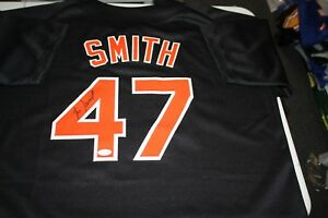BALTIMORE ORIOLES LEE SMITH  47 SIGNED AUTO CUSTOM JERSEY 478 SAVES ... 786f96d75