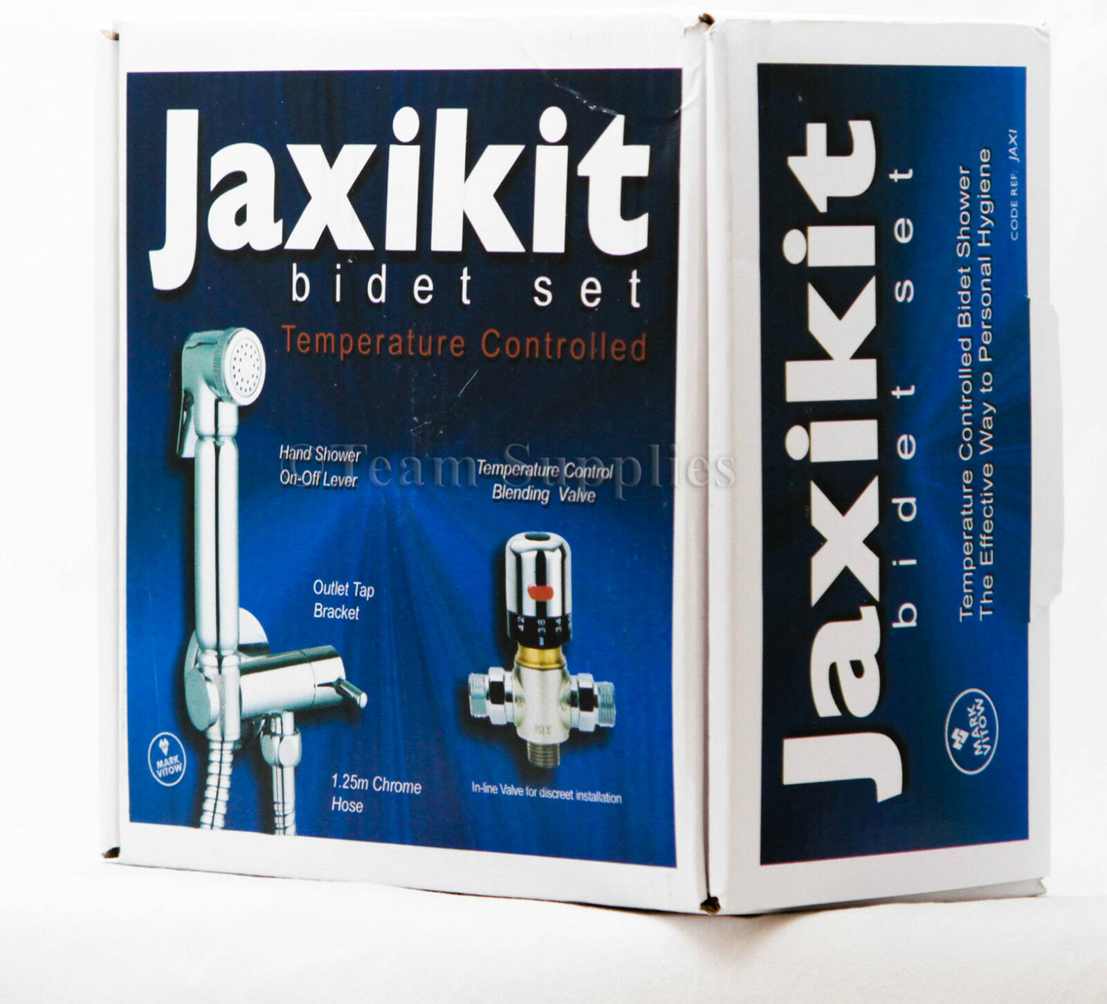 Jaxi Thermostatique Chrome Laiton Bidet Douche Musulman douche à main Shattaf Set Kit