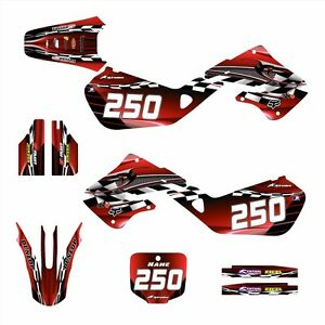 1997 1998 1999 CR125 CR250 Graphics for Honda CR 125R 250R Decals #2500 Red