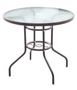 Image Is Loading Round 4 Seater Patio Table Steel Frame And