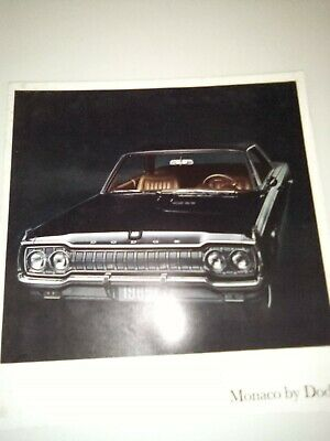 1965 Dodge Monaco Original Car Dealer Sales Brochure Catalog