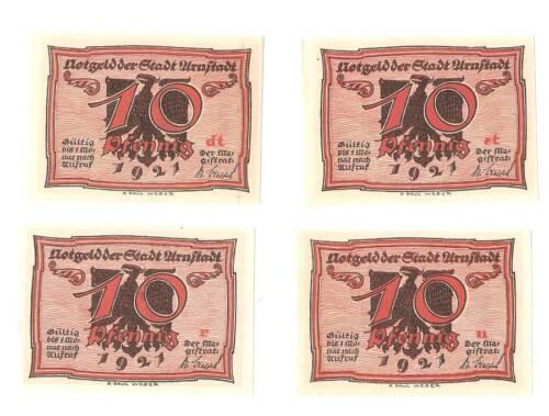 Uncirculated 1921 Germany Full set of Uraftadt Notgeld banknote