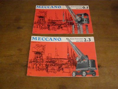Bello 2 Anciens Manuels D'instruction Meccano