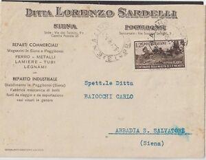 ITALY 1951 25LMICHETTI ISOLATED ON COMERCIAL COVER FROM POGGIBONSI X ABBADIA S.S - Italia - ITALY 1951 25LMICHETTI ISOLATED ON COMERCIAL COVER FROM POGGIBONSI X ABBADIA S.S - Italia