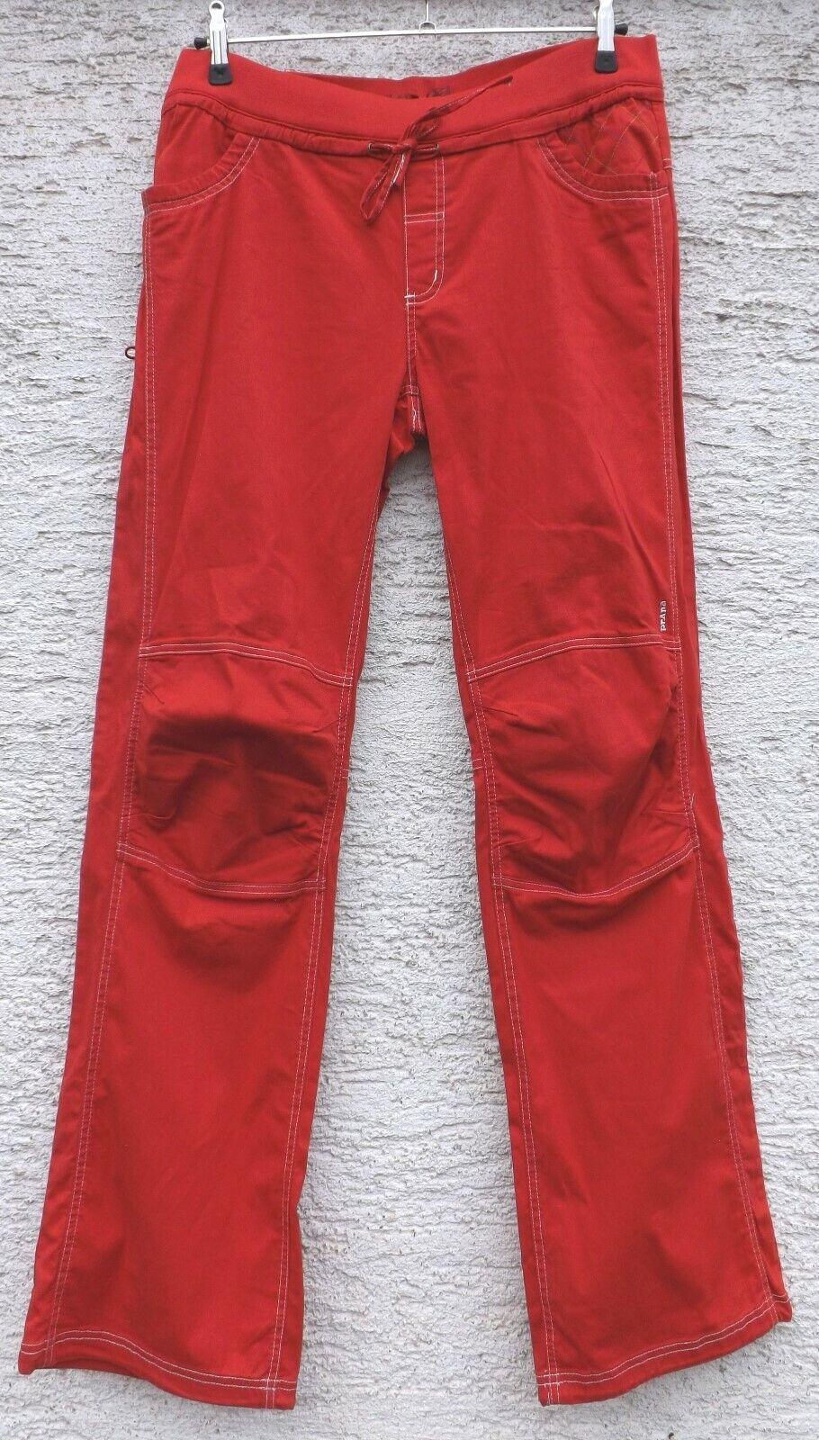 Prana Avril Pant   Kletterhose für Damen   rot ribbon  Boulderhose  Größe XL