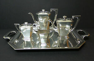 Image Is Loading 4 Pc Anese Sterling Silver Coffee Tea Set