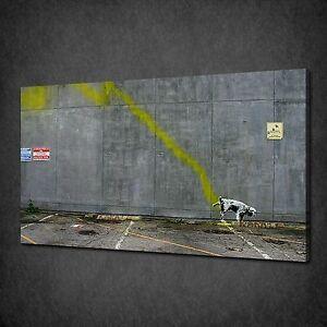 Street Art Banksy Dog professionally Framed art print with mount