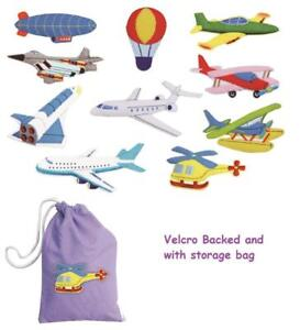 Details about 10 Felt Vehicle Motifs - Air Transport Planes Helicopters  Airships Space Shuttle