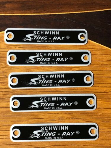 Genuine SCHWINN Stingray Seat Tag for Lemon Peeler  Fastback bicycles and others