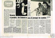 Coupure de presse Clipping 1981 (2 pages) John Steinbeck