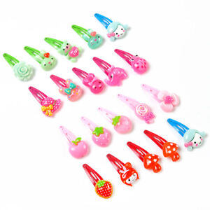 New-20x-Girls-Hairpin-Mixed-Assorted-Baby-Kid-Children-Cartoon-Hair-Pin-Clips