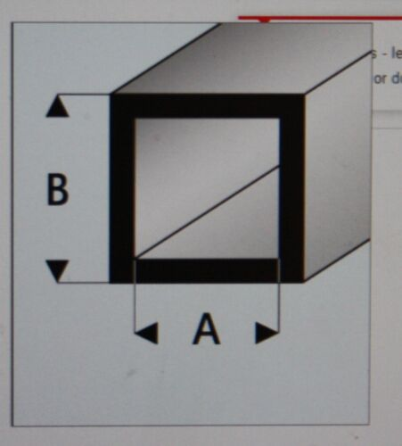 "MAQUETT 420-52//3 White Styrene square tube 4mm x 2mm 0.156/""x 0.080/"" x 330mm X5"