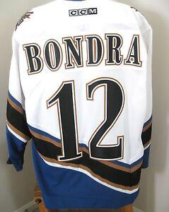 official photos 72679 3bdf9 Details about Vintage Peter Bondra #12 Washington Capital Caps Hockey CCM  Jersey Sz L Pristine