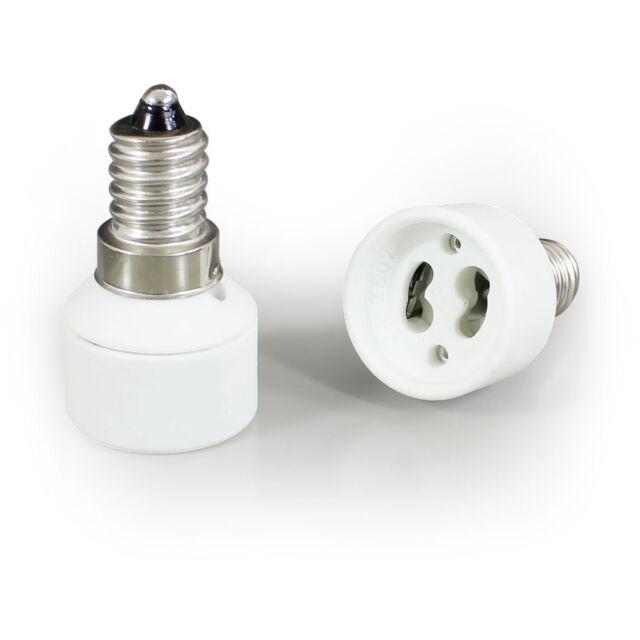 5 Stück Adapter E14 - GU10 Lampenfassung Konverter Sockel Lampensockel Fassung