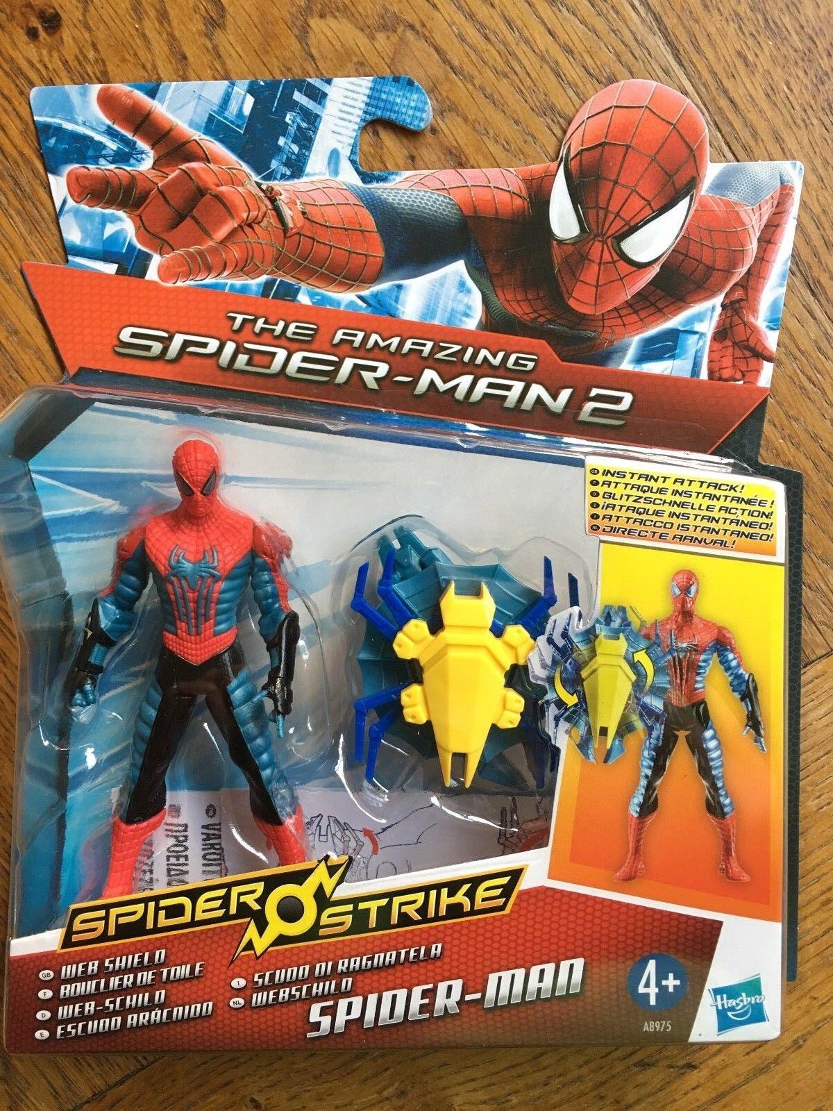 Amazing SPIDER-MAN 2 SPIDER Strike 3.75 Inch Figura-SHOCK rullante Electro NUOVO!