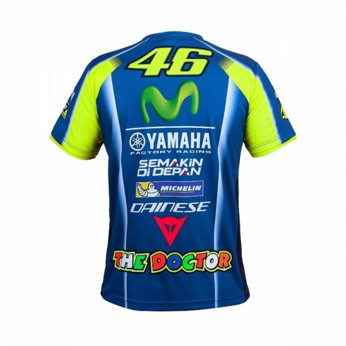 VR46 OfficialValentino Rossi Replica Leather/'s Mans  T Shirt YDMTS 273809