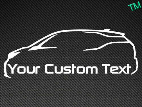 BMW i3 Custom Text Car Sticker Vinyl Decal Electric Vehicle Personalised