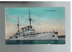 1907-Kiel-Germany-SMS-Lothringen-Battleship-Postcard-Cover-to-Lindau