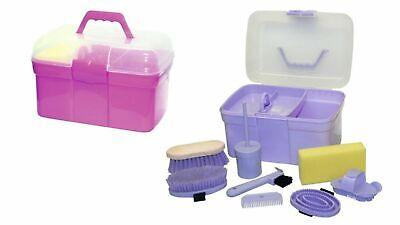 Pferde Putzbox MONDA Putzkasten Putzkoffer gefüllt für Kinder 7 teilig