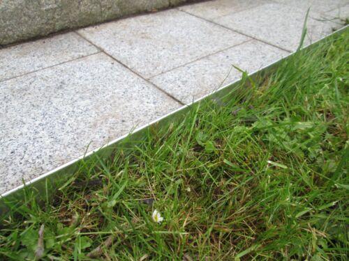 Rasenkante Metall 8 14 18 cm hoch verzinkt Beetumrandung Beeteinfassung Mähkante