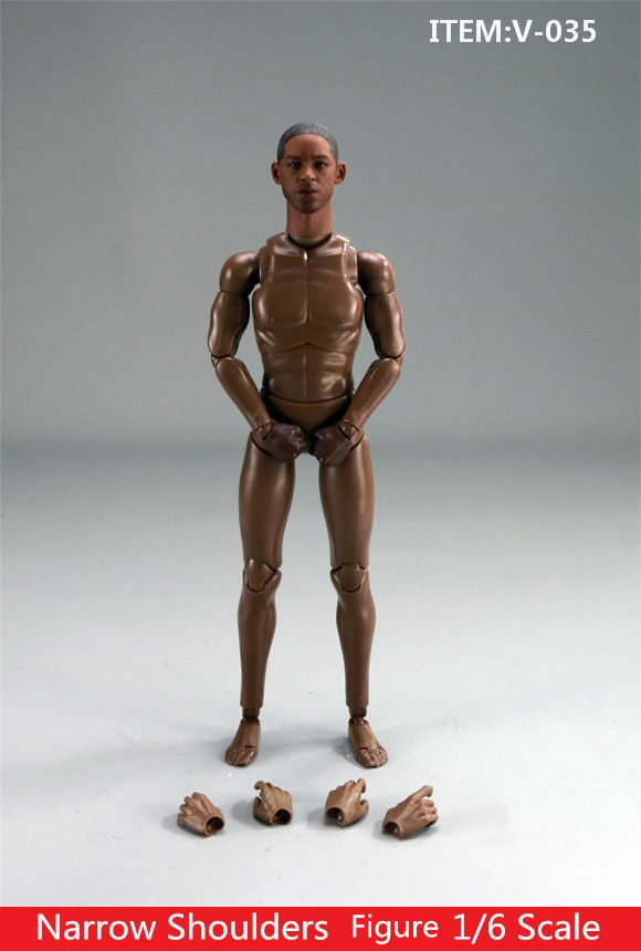 1 6 Will Smith Narrow Shoulder Flexible Standard Body&Head Sculpt Set Toy