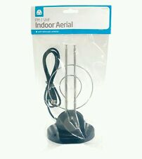INDOOR portatili HD TV Aerial con antenna telescopica FM / vfh