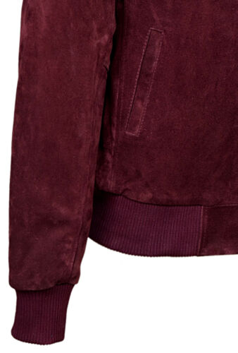 Men/'s 275 Cherry Suede Classic Biker Style Italian Fitted Real Leather Jacket