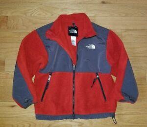 96117ebc8 Details about Boys THE NORTH FACE Polartec Fleece Jacket Medium 10/12 Dark  Orange Gray