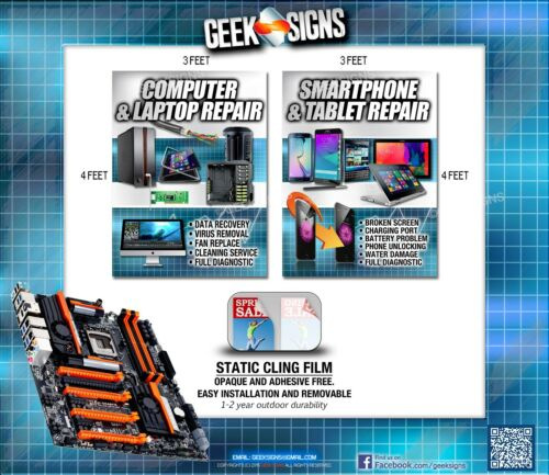 Cell Phone Smartphone Computer repair banner poster sign iphone Samsung