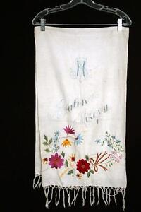 VINTAGE-GERMAN-1930-039-S-1940-039-S-HAND-EMBROIDERED-LONG-TABLE-LINEN-53-1-2-034-LENGTH