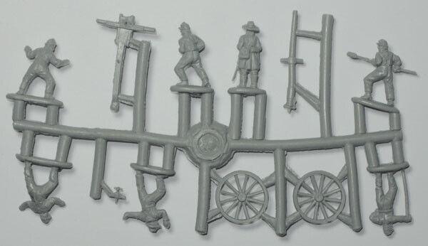 Strelets 1/72 Scale12pdr WHITWORTH Gun & Confederate Crew-Contains 1 Sprue - 183