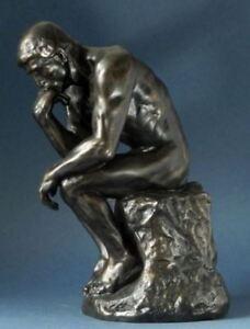 Dettagli su NUDO maschile SCULTURA IL PENSATORE Auguste Rodin FIGURINA lepenseur Statua Ornamento mostra il titolo originale