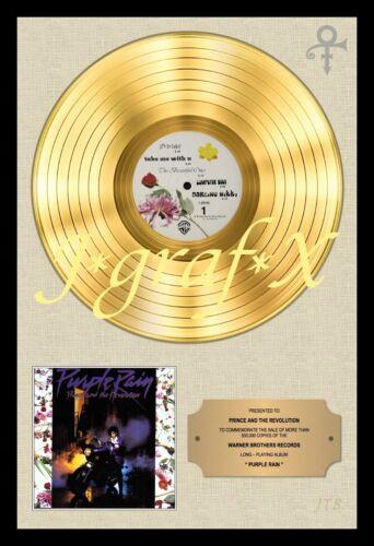 POSTER REPRO REALLY COOL ARTWORK!!! GOLD RECORD PURPLE RAIN PRINCE