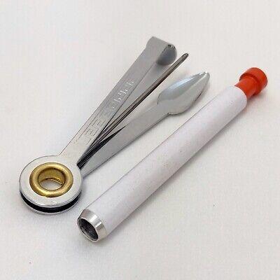 Wood Tobacco Smoking Pipe Orange Metal screens /& Cleaning Tool Poker
