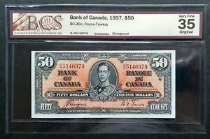 1937-Bank-of-Canada-50-Coyne-amp-Towers-Signature-B-H-5146979-BCS-VF-35-BC-26c
