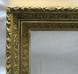ANTIQUE-FITS-12-1-034-X-20-1-034-GOLD-GILT-ORNATE-WOOD-FRAME-FINE-ART-VICTORIAN