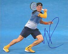 Milos Raonic Canada Wimbledon Tennis 8x10 Photo Signed Auto COA