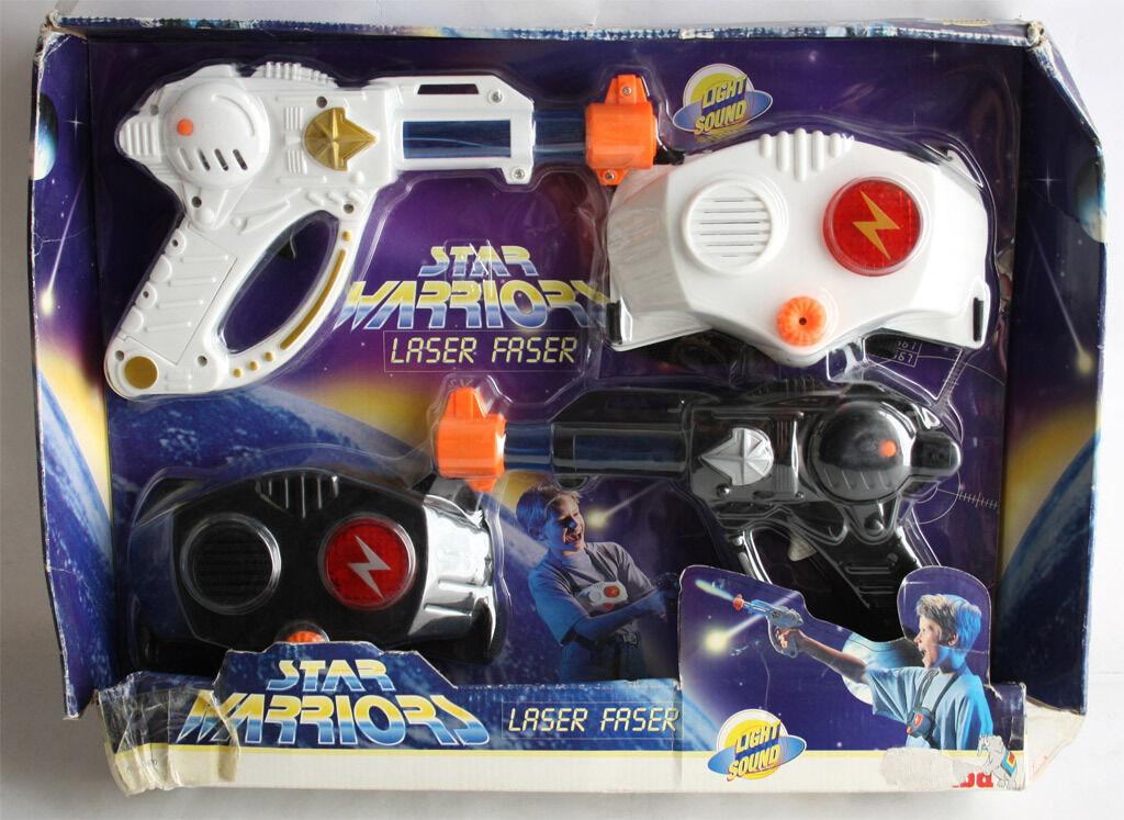 RARE VINTAGE 90'S STAR WARRIORS LASER CHALLENGE SPACE GUN SET SIMBA NEW NRFB