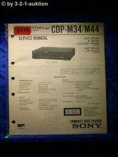 Sony Service Manual CDP M34 / M44 CD Player (#2170)