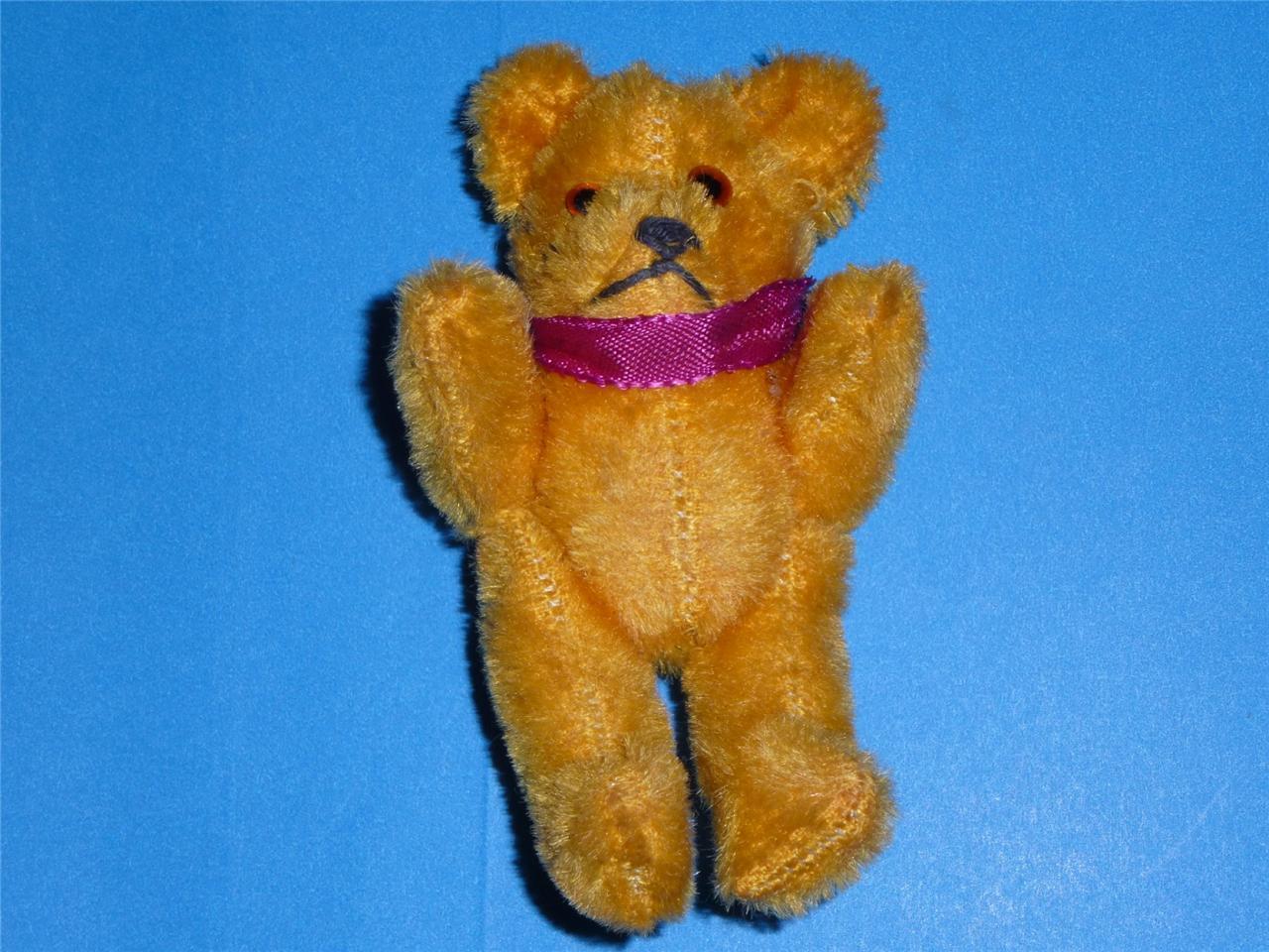 Vintage Schuco Teddy Bear Miniature Mohair 4.5