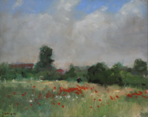 ORIGINAL-MALCOLM-LUDVIGSEN-034-York-Poppies-034-Yorkshire-Poppy-flower-OIL-PAINTING