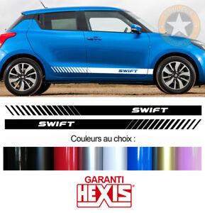 2 X BANDES LATERALES POUR SUZUKI SWIFT AUTOCOLLANT STICKER BD500-9*