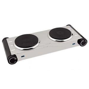 Hornillo electrico cocina 2 fuegos acero inoxidable for Hornillo electrico portatil