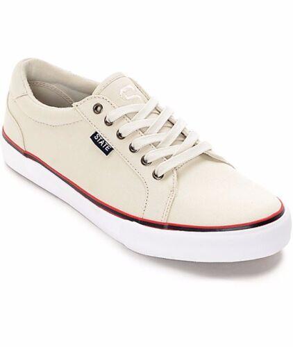 blanca en para crema zapatilla Tamaño deporte 9 State Hudson en de Nuevo lona hombre y Zapato wP8tXqP