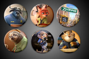 Zootopia-Movie-Pins-Judy-Hopps-Nick-Wilde-Bogo-Clawhauser-Disney-Pinback-badge