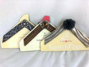 3-Lindsay-Phillips-Switch-Flops-Straps-Lot-SWITCHFLOPS-Flip-SMALL-5-6