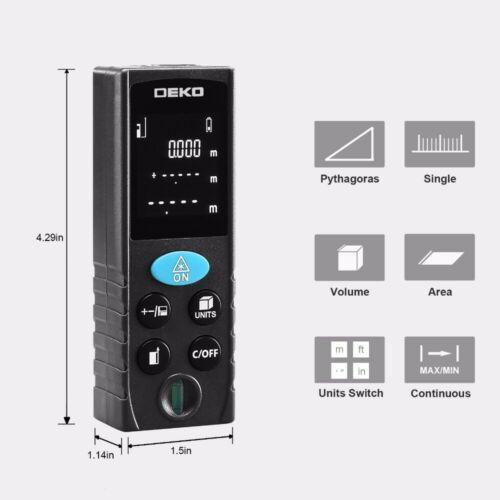 Télémètre Laser portatif 40M 60M 80M 100M LRD110 DEKO Haute Précision