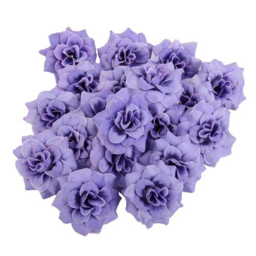 10Pcs Simulation Fake Rose Heads Silk Flower Party Wedding Home Decor DIY Craft