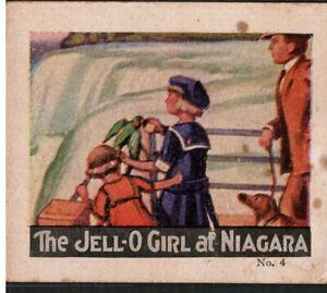 Trade Cards 2 Jello Tri-Fold 1920s,Jello Girl Niagara