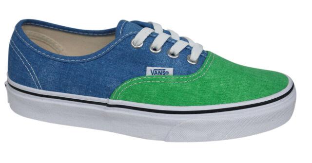 126146659e5b Vans OTW Authentic Lace Up Green Blue Washed 2 Tone Unisex Plimsolls ZUKFPT  VD